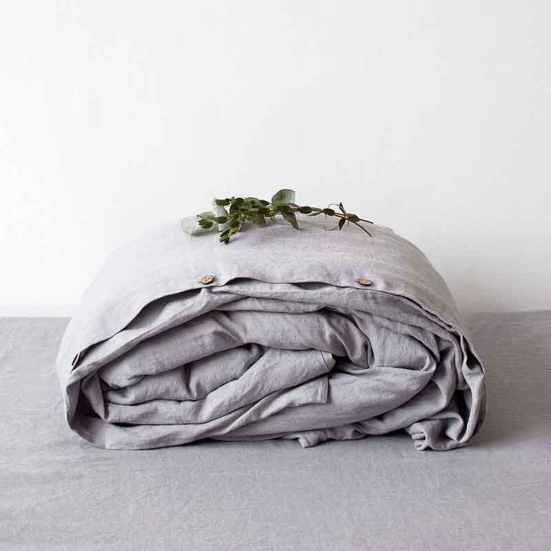 Linen duvet cover (set) Dove Gray