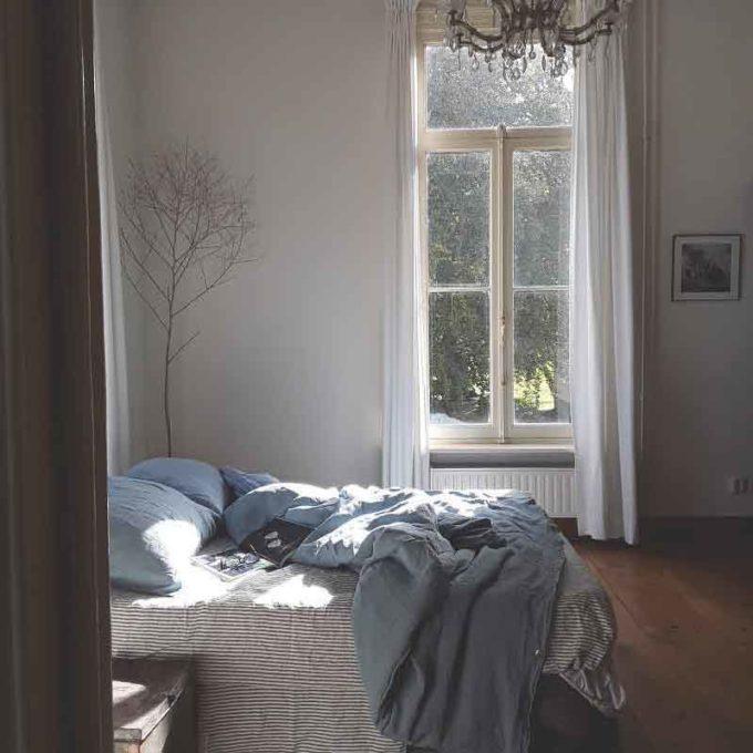 Blauw-stonewashed-linnen-dekbedovertrek Morning blue - Casa Homefashion