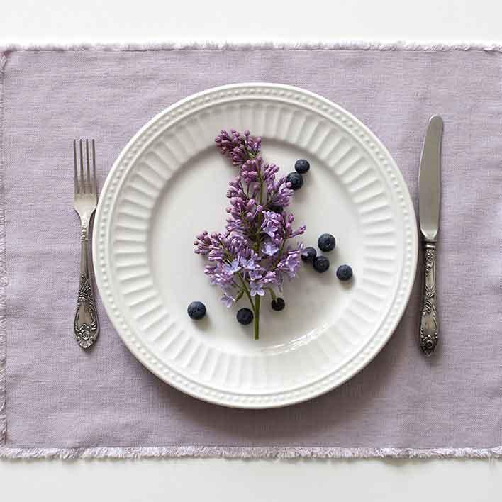 Linnen-tafelkleed Pink Lavendel - roze - Linen tale