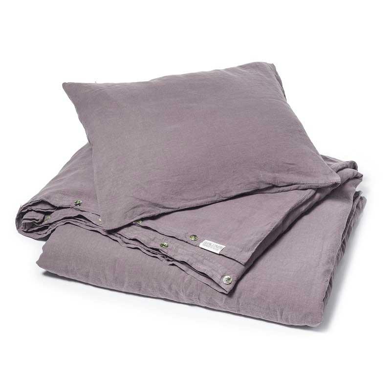 2701668974d0 Donkerpaars stonewashed linnen dekbedovertrek Black Purple - merk Casa  Homefashion - online te koop bij Casa