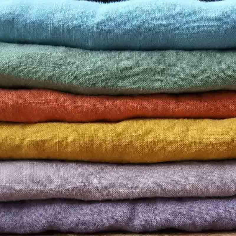 De collectie linnen dekbedovertrekken bestaat uit vele kleuren - webshop Casa Comodo