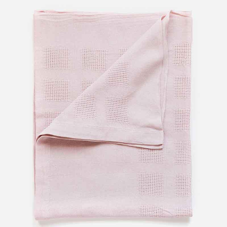 Mungo wiegdeken roze - organisch katoen - webshop Casa Comodo