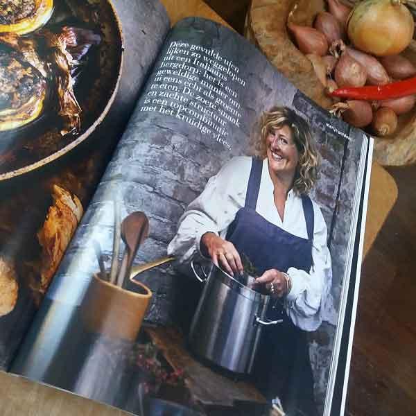 Linnen schort van Casa Comodo in tijdschrift delicious
