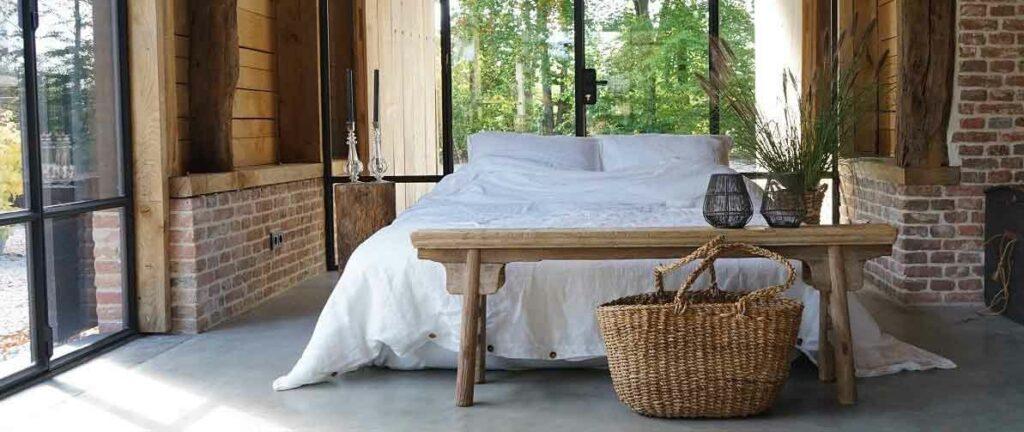 linnen dekbedovertrek wit - merk Casa Homefashion