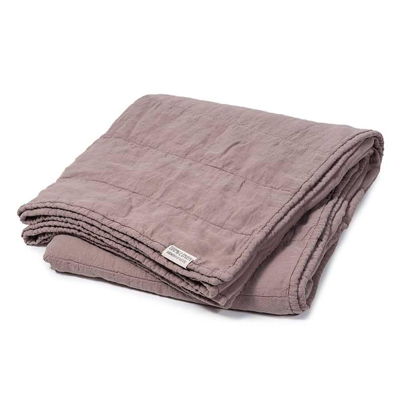 linen bedspread old pink