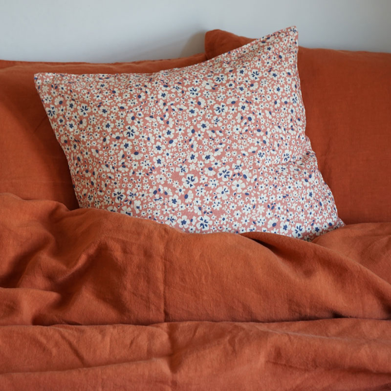linen cushion cover blossom